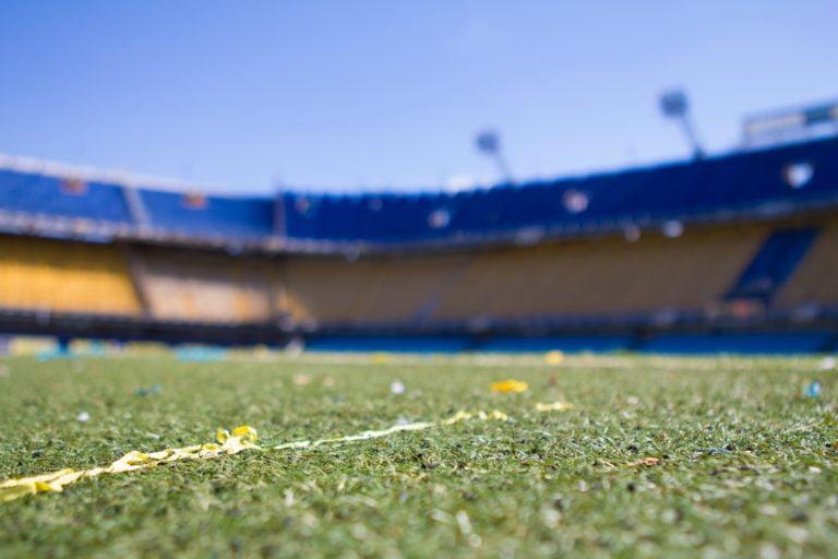 Empty sports field