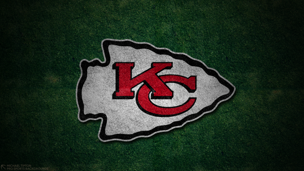 Kansas City Chiefs 2021 4k Grass Desktop Logo Wallpaper for PC that's printable 3840 x 2160 pixels