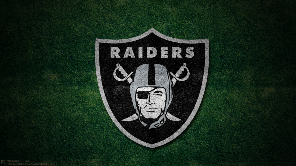 Las Vegas Raiders 2021 4k Grass Desktop Logo Wallpaper for PC that's printable 3840 x 2160 pixels