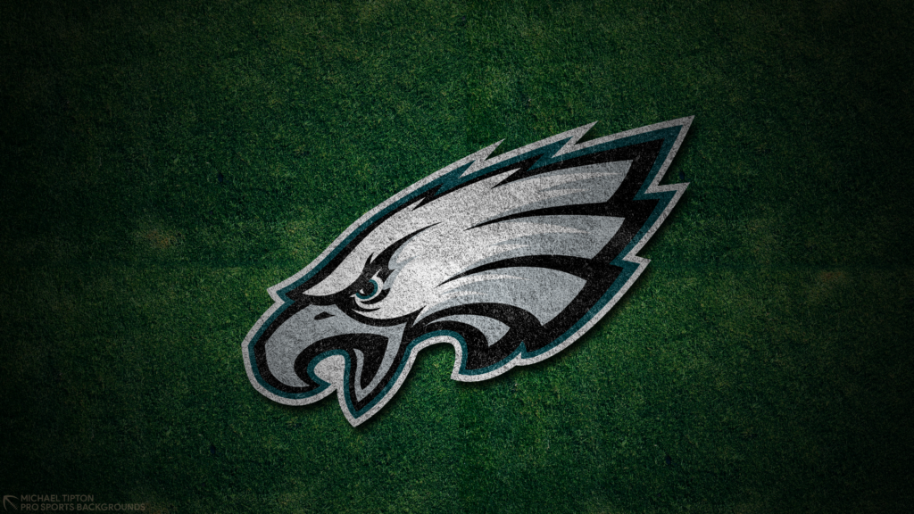 Philadelphia Eagles 2021 4k Grass Desktop Logo Wallpaper for PC that's printable 3840 x 2160 pixels