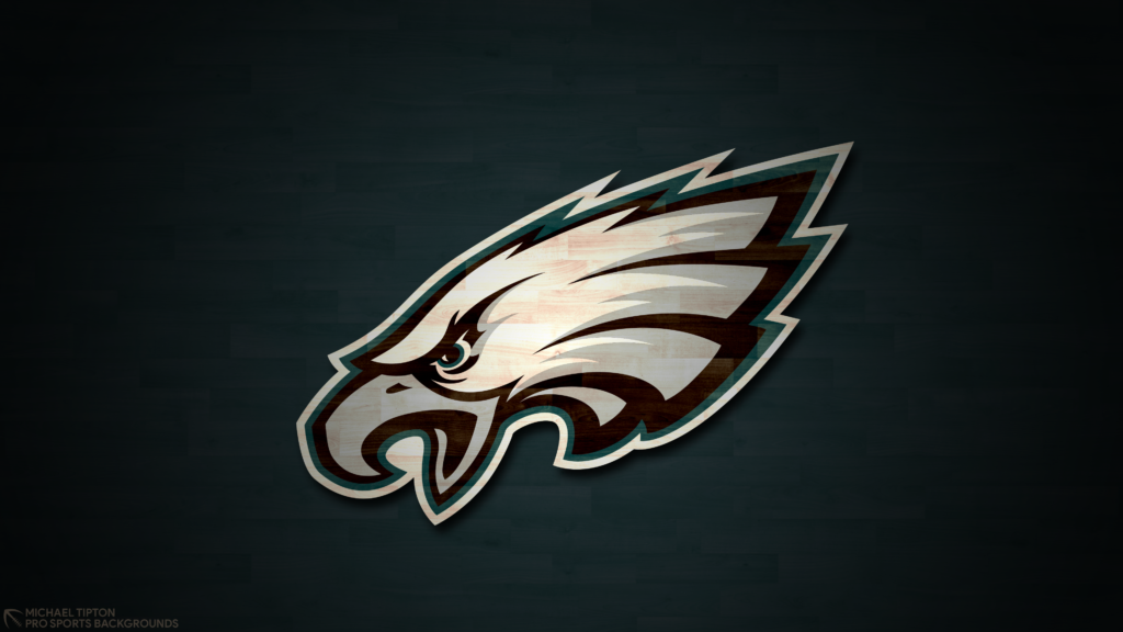 Philadelphia Eagles 2021 4k Hardwood Desktop Logo Wallpaper for PC that's printable 3840 x 2160 pixels