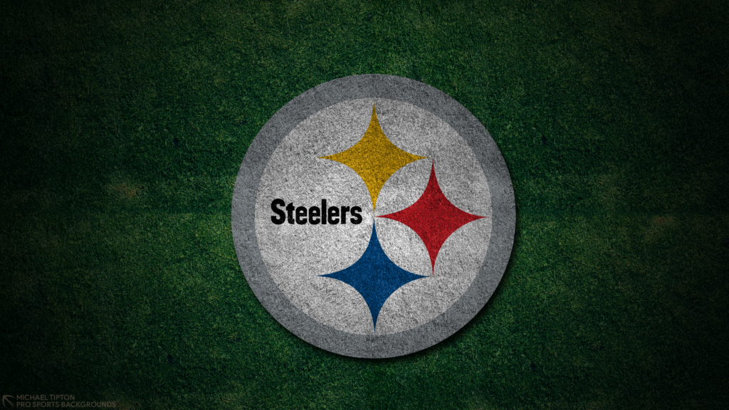 Pittsburgh Steelers 2021 4k Grass Desktop Logo Wallpaper for PC that's printable 3840 x 2160 pixels