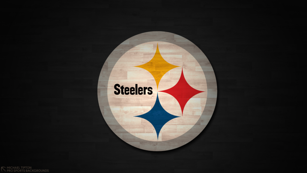 Pittsburgh Steelers 2021 4k Hardwood Desktop Logo Wallpaper for PC that's printable 3840 x 2160 pixels
