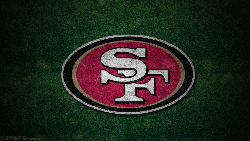 San Francisco 49ers 2021 4k Grass Desktop Logo Wallpaper for PC that's printable 3840 x 2160 pixels