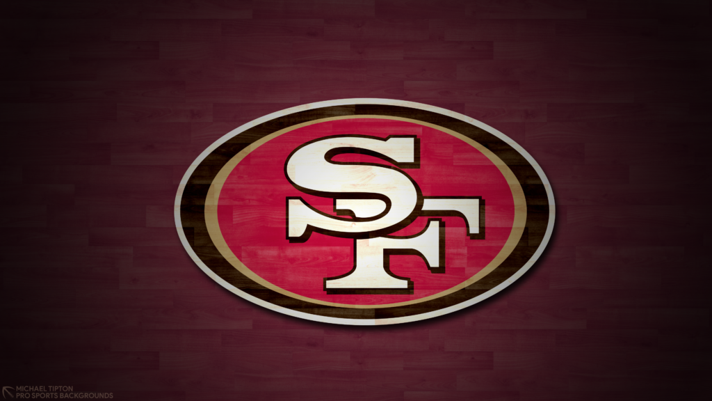 San Francisco 49ers 2021 4k Hardwood Desktop Logo Wallpaper for PC that's printable 3840 x 2160 pixels