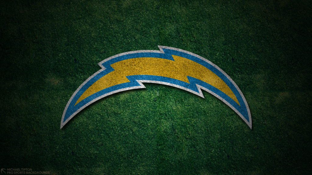 Los Angeles Chargers 2021 4k Grass Desktop Logo Wallpaper for PC that's printable 3840 x 2160 pixels