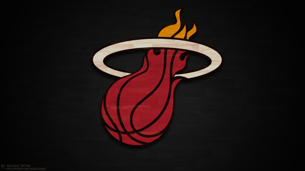 Miami Heat 2021 NBA Desktop Logo Wallpaper 4K printable 3840x2160
