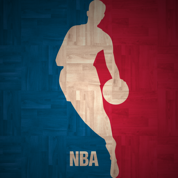 NBA logo hardwood